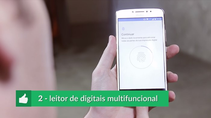 Leitor de digital Moto E4 Plus