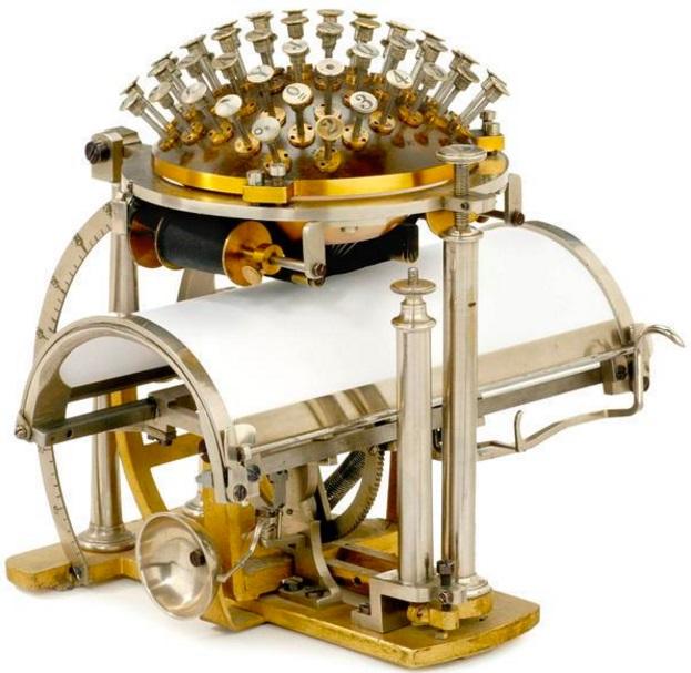 Uma máquina de escrever velha
