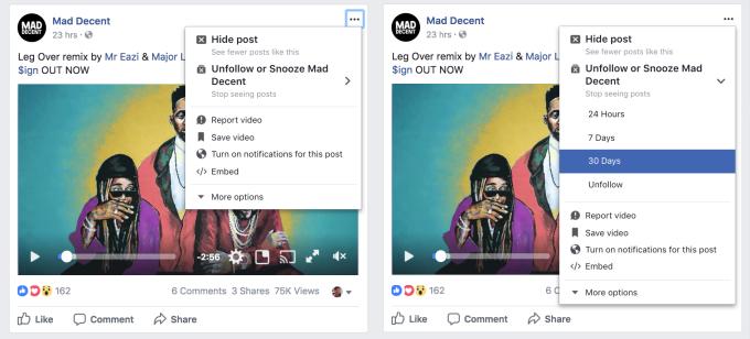 Captura de tela do Facebook