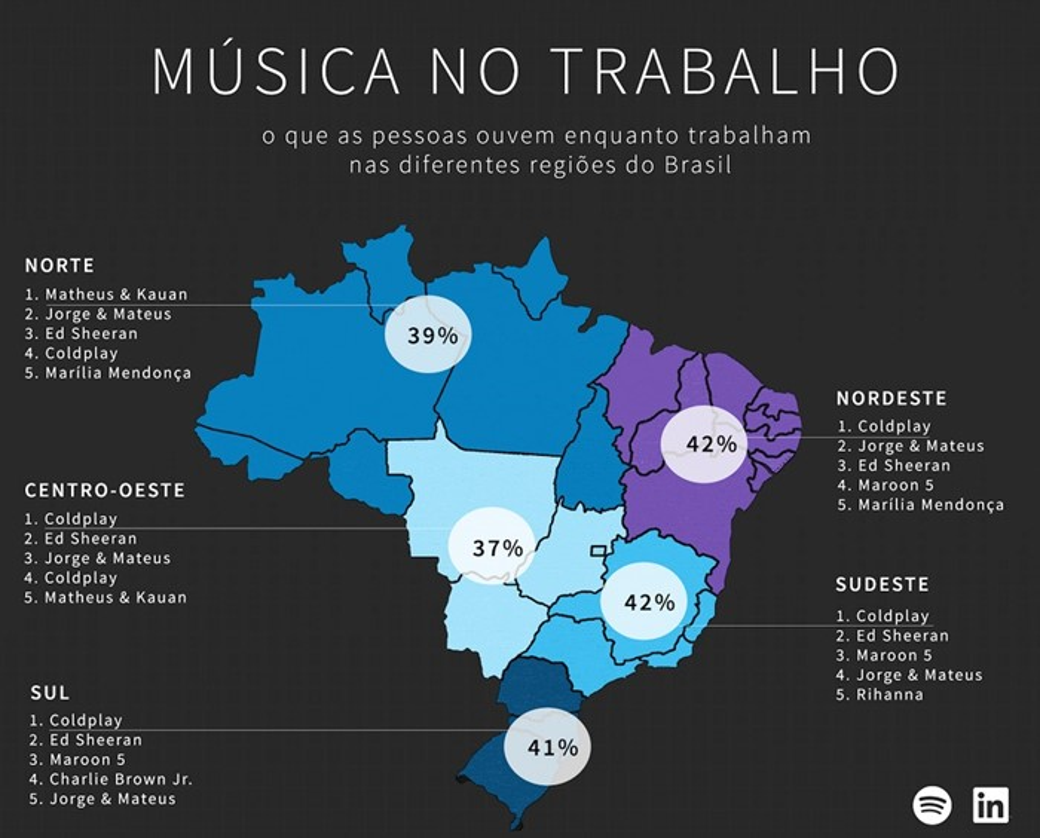 Um mapa do Brasil