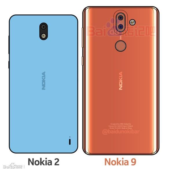 dois smartphones nokia