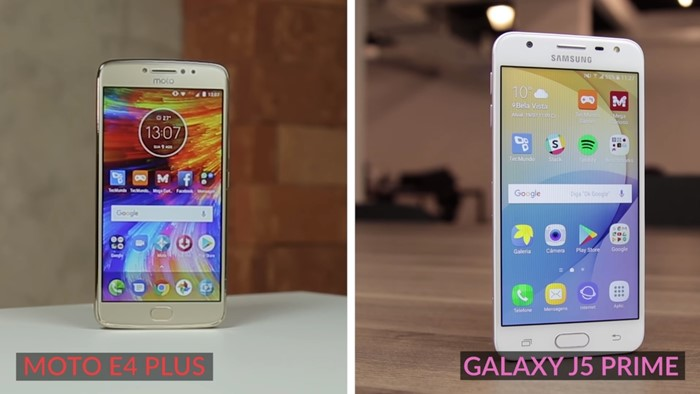 Galaxy J5 Prime e Moto E4 Plus