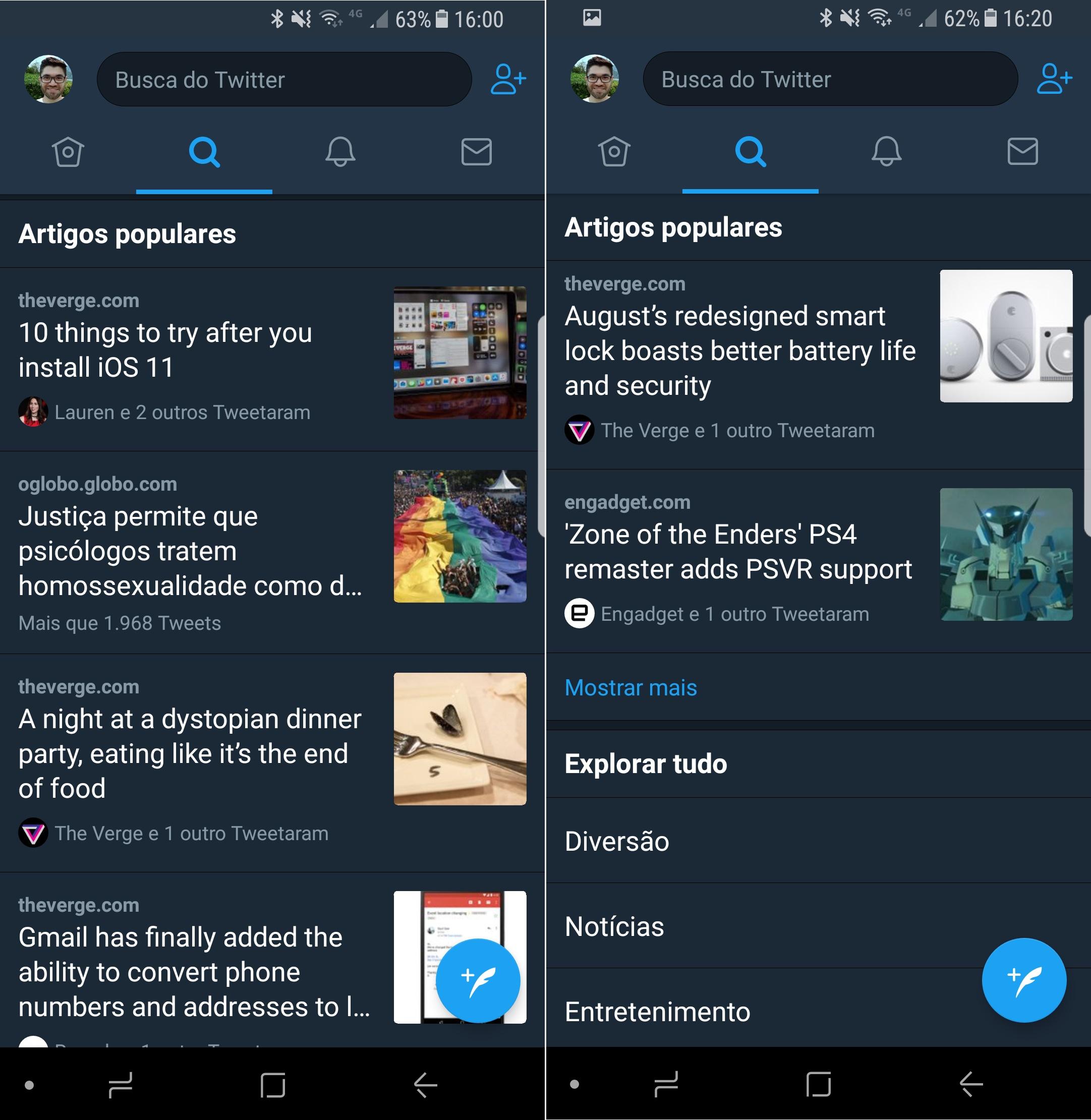 Uma captura de tela de celular