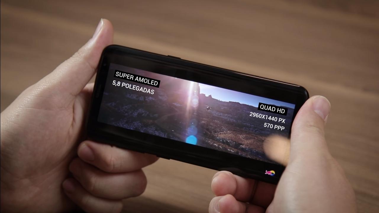 Galaxy S8 rodando vídeo