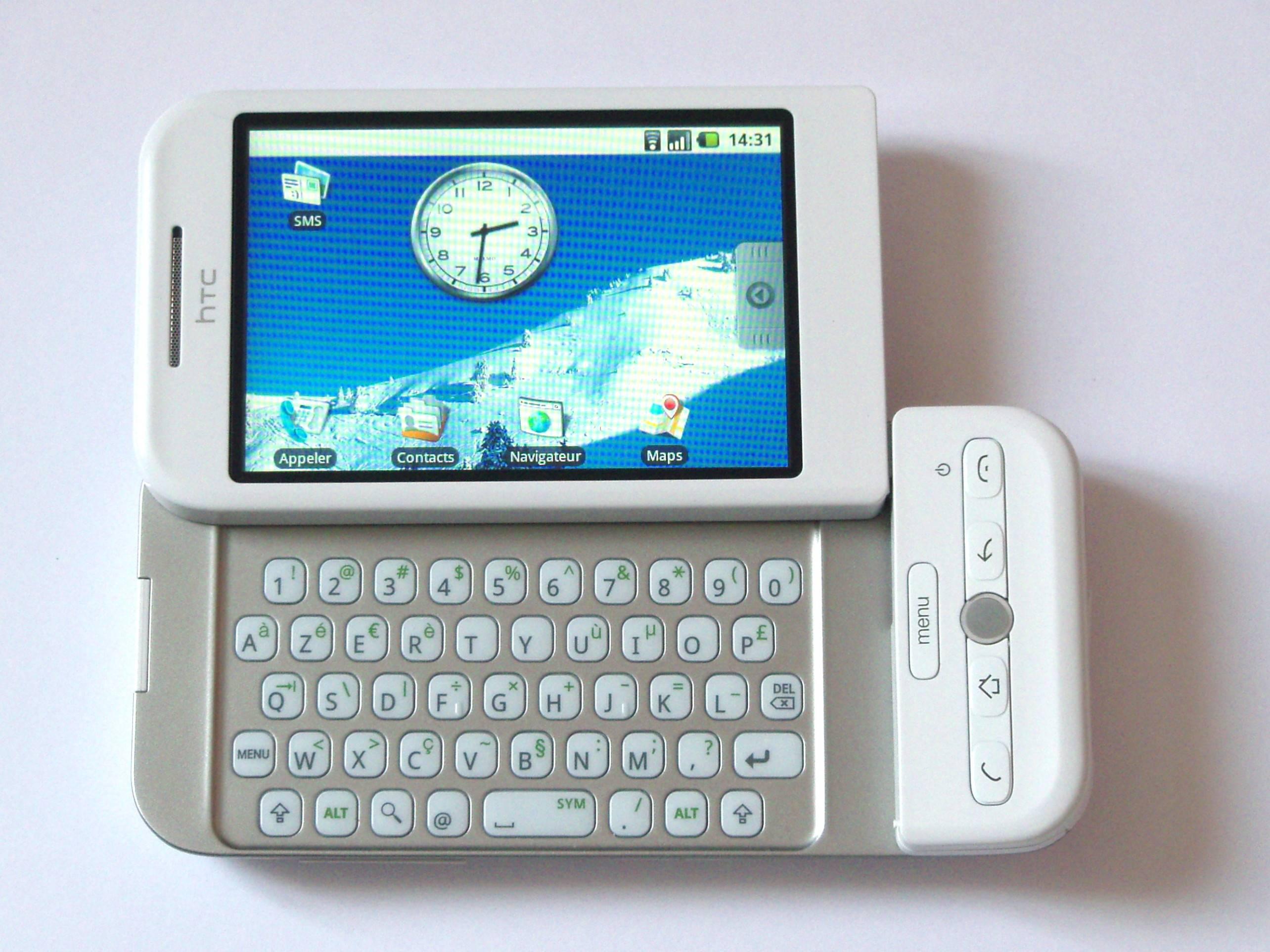 Tela de um telefone celular