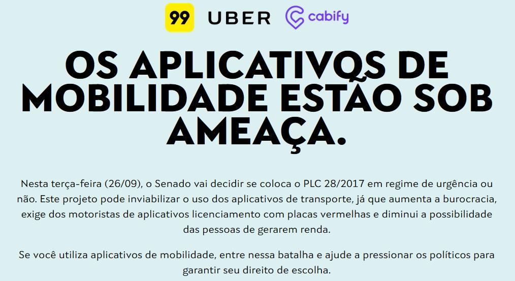 Motoristas do Uber realizam protesto contra projeto de lei em Natal