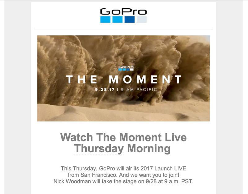 Convite para evento da GoPro