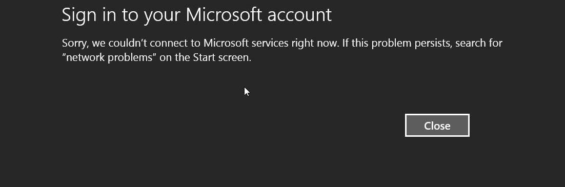 Erro no Windows 8.1