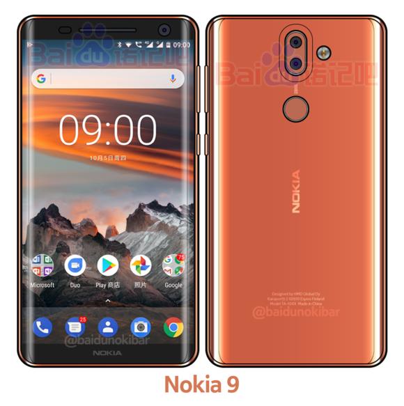 Imagem do suposto Nokia 9