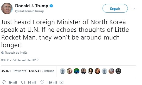 Trump guerra Coreia