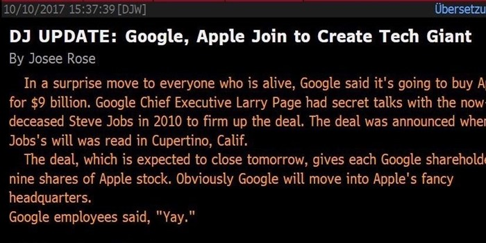 Dow Jones Google Apple