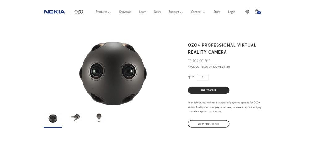 Nokia Ozo câmera VR