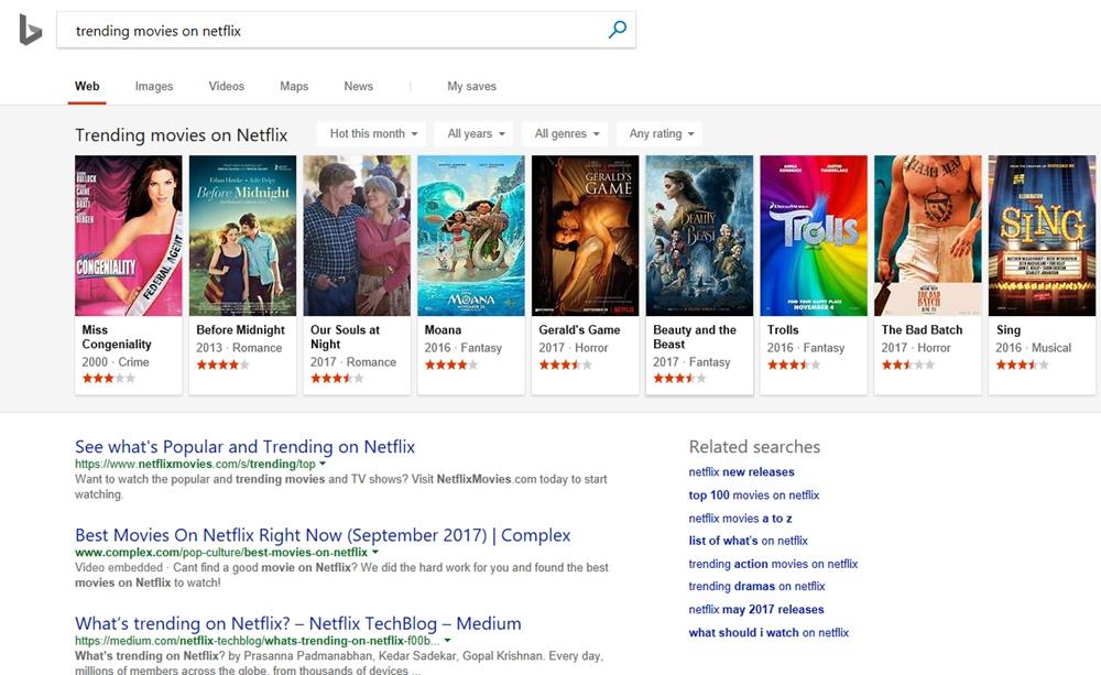 Bing filmes séries netflix