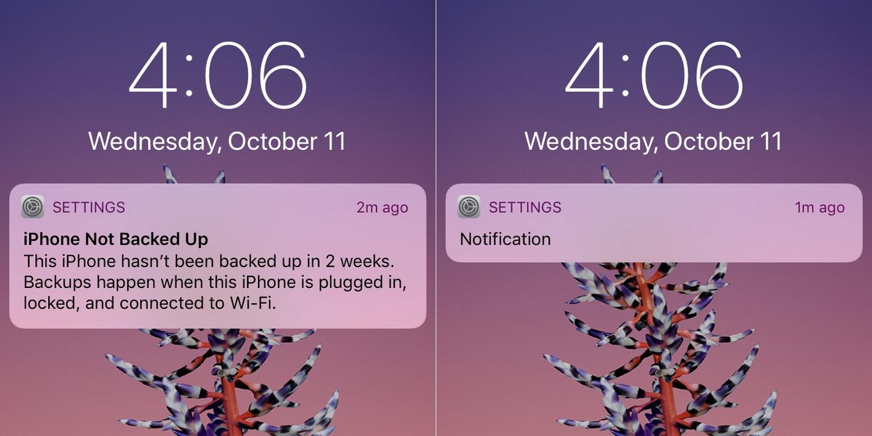 Notificações iPhone X