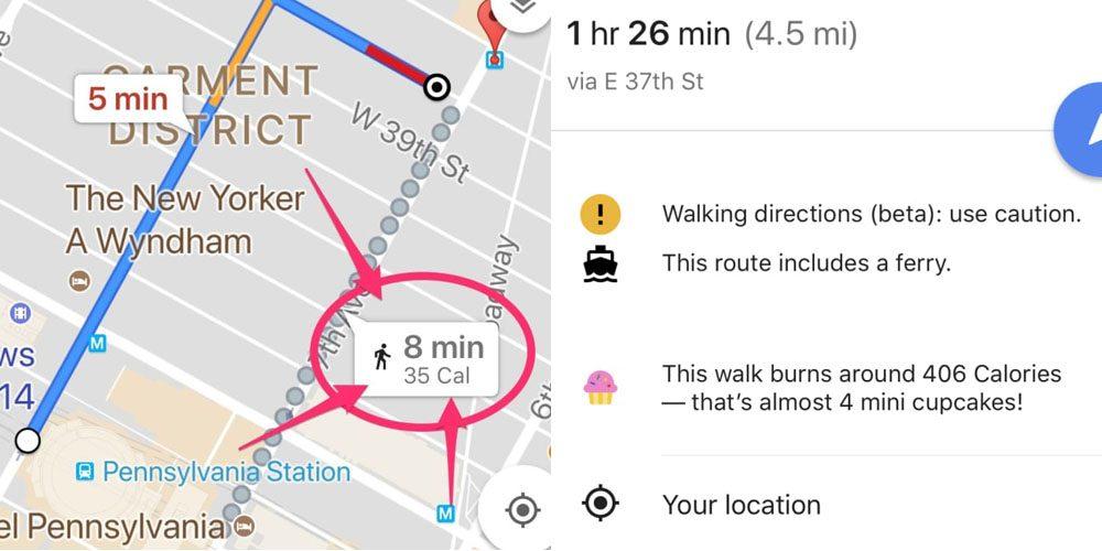 google maps cupcake