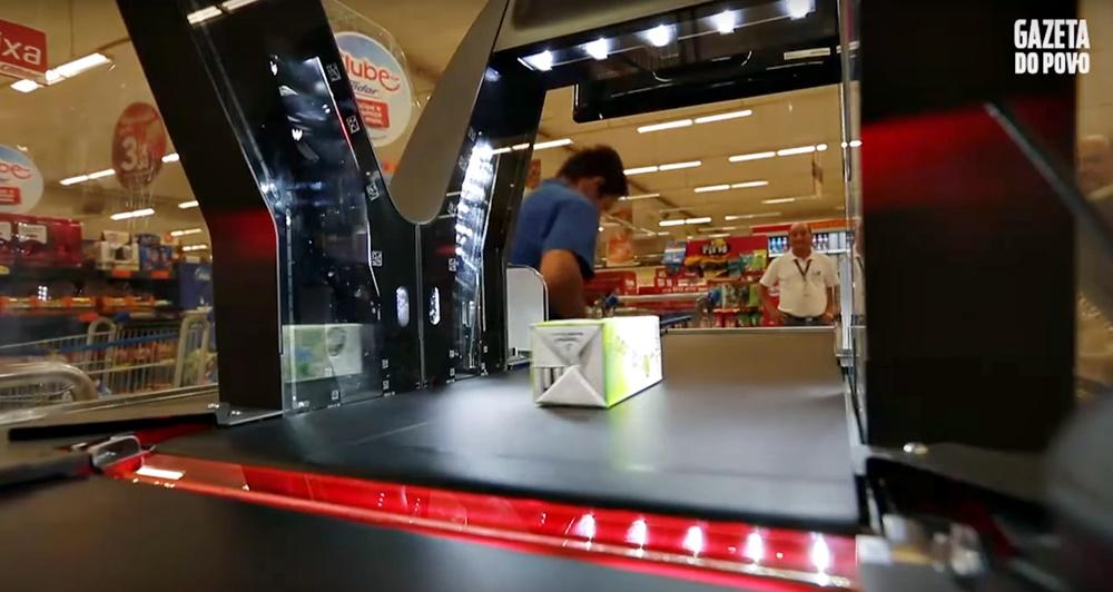 Jade esteira supermercado