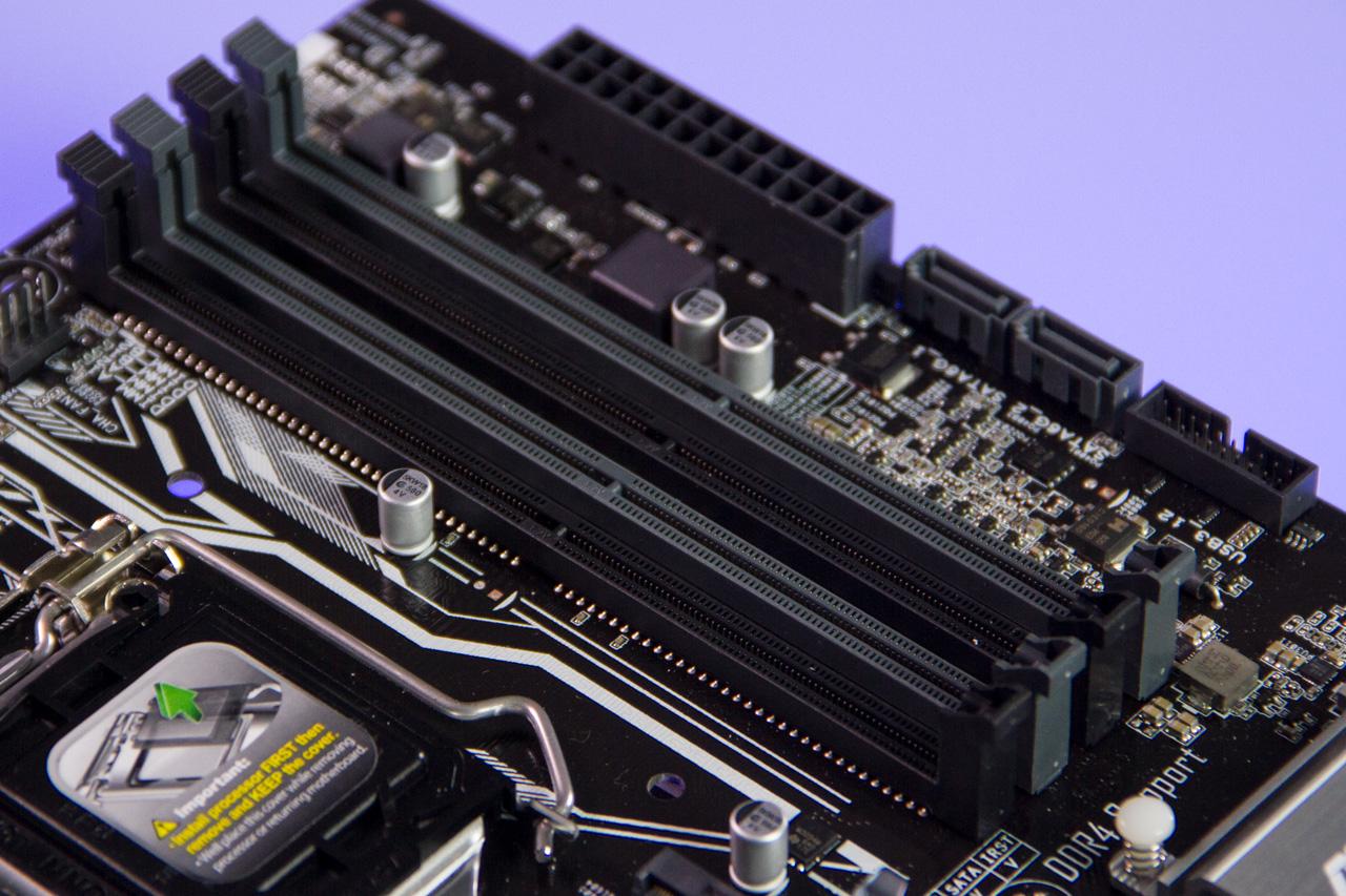 Slots DDR4 na ASUS Z270M