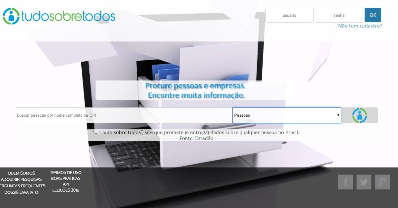 Site que mostra CPF, telefone e endereço de brasileiros volta ao ar