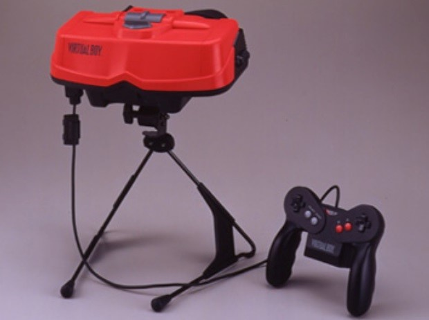 O Virtual Boy, da Nintendo.