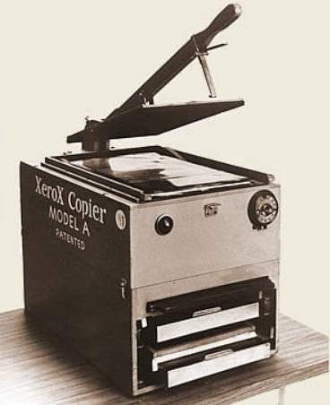 Uma copiadora antiga.