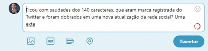 Uma captura de tela do Twitter