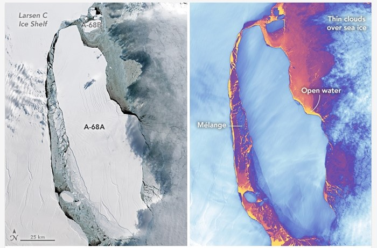 Iceberg antártida a-68
