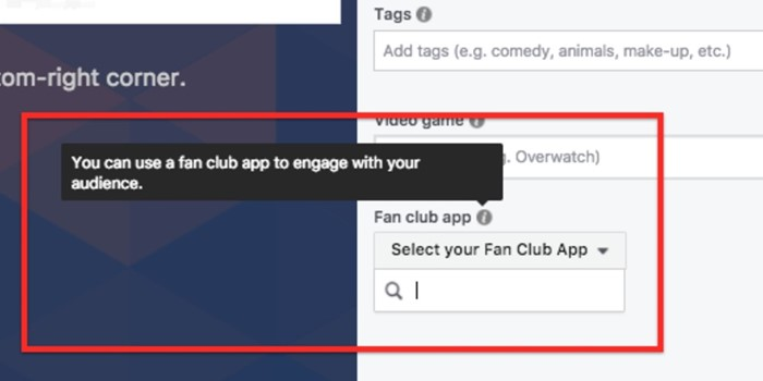 Live Facebook Fan Club App