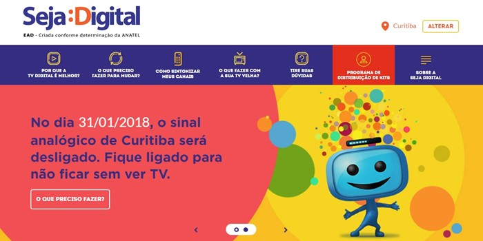 tv digital analógica