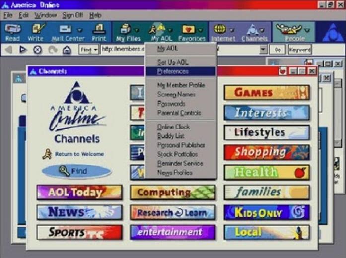 Uma tela de navegador.