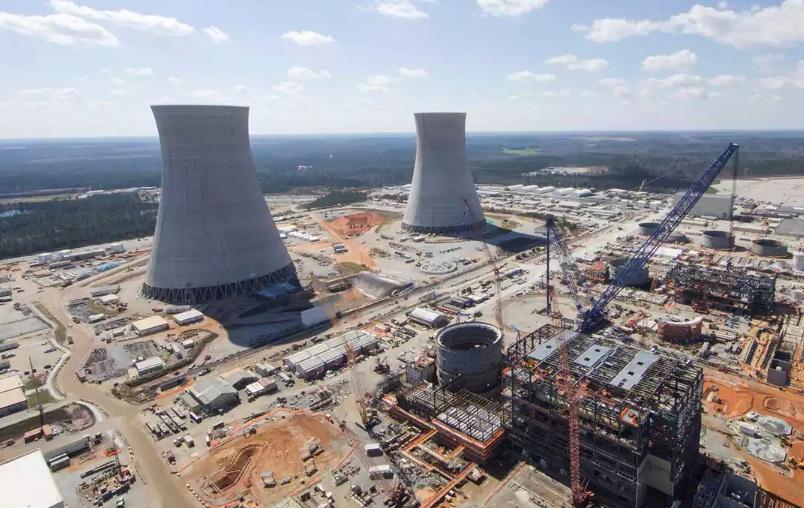 Uma usina nuclear.