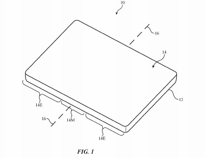 Patente iPhone dobrável