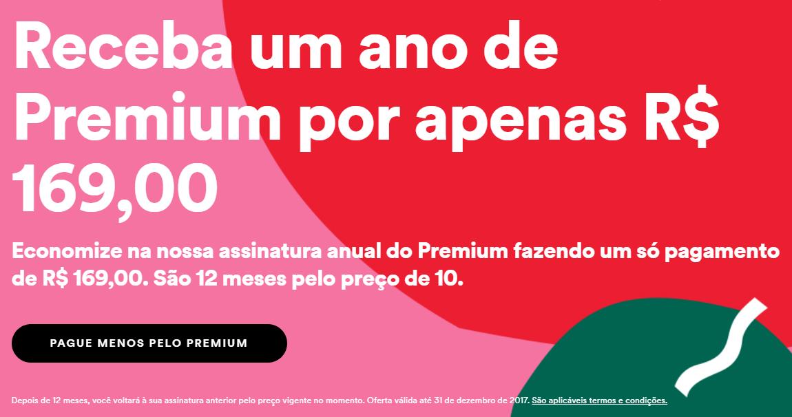 Spotify anuncia assinatura anual por R$169