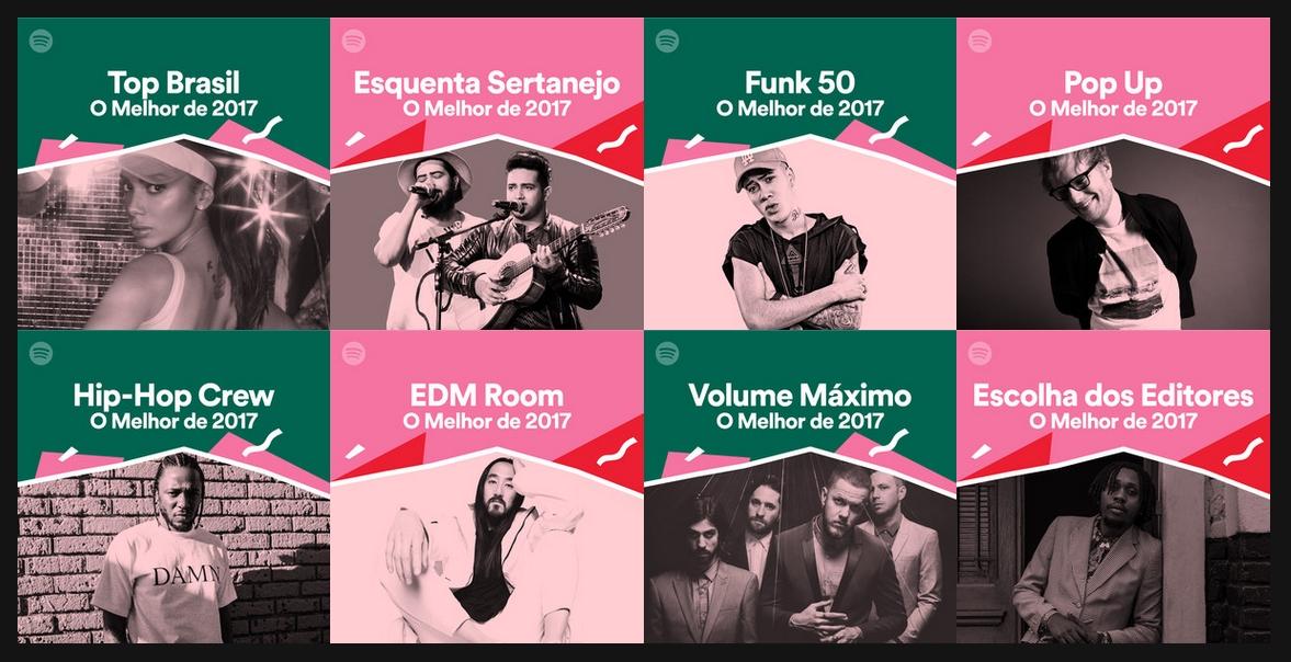 Spotify divulga a sua retrospectiva em 2017.