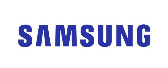A logo da Samsung.