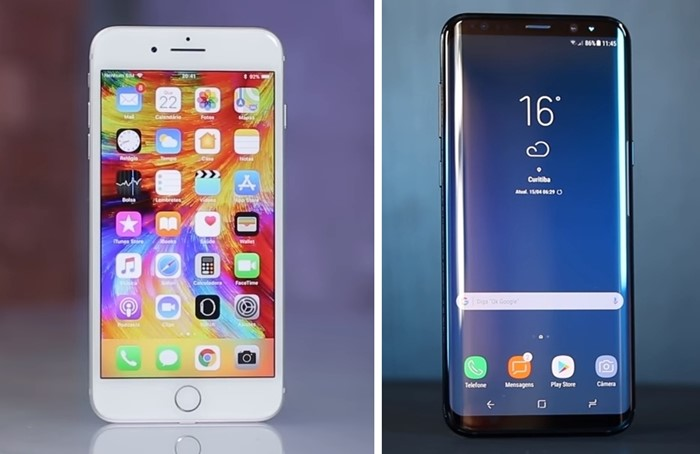 iPhone 8 Plus vs. Galaxy S8+