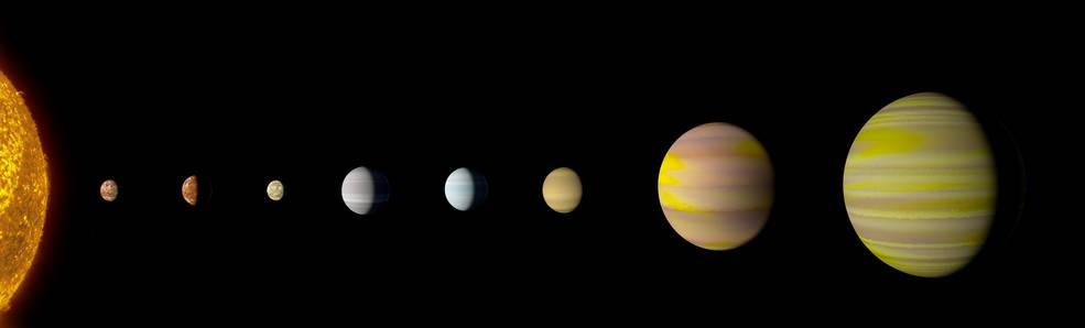 O sistema Kepler-90 e o oitavo planeta logo ali no final