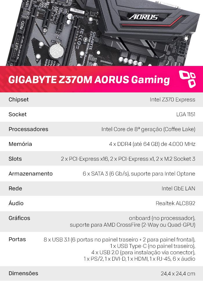 Dados Z370M AORUS Gaming