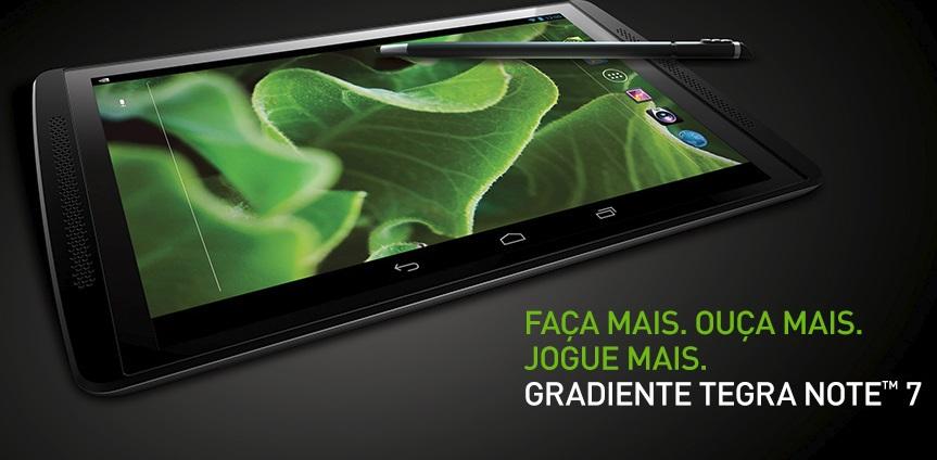 Um tablet.