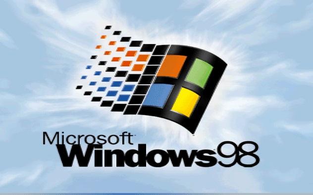 A logo do Windows 98.