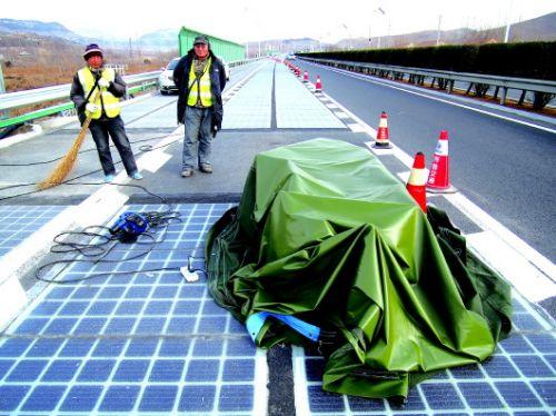 estrada fotovoltaica