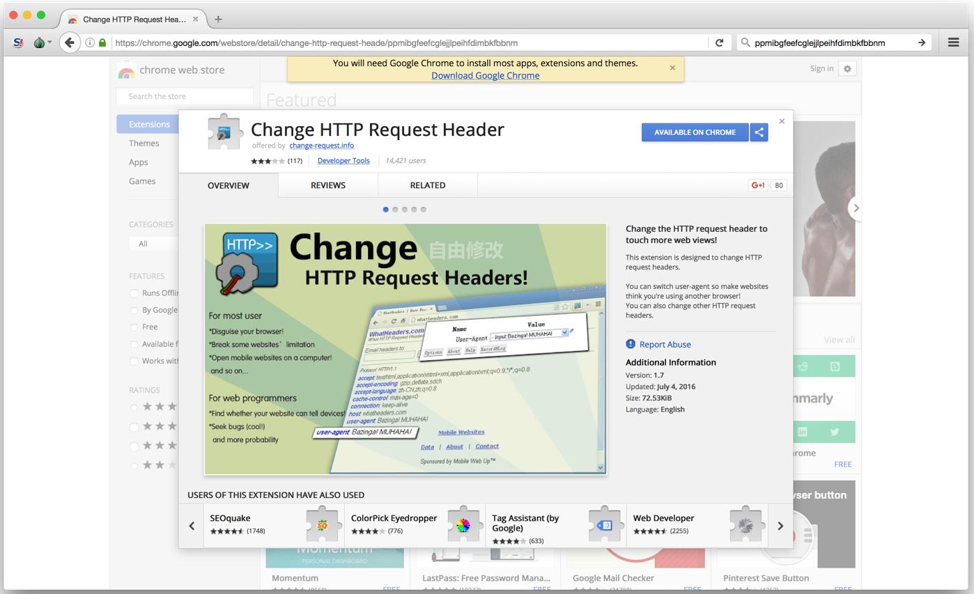 Chrome Extensão