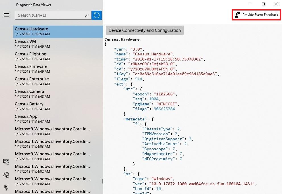 Windows irá permitir visualizar dados anónimos enviados para a Microsoft