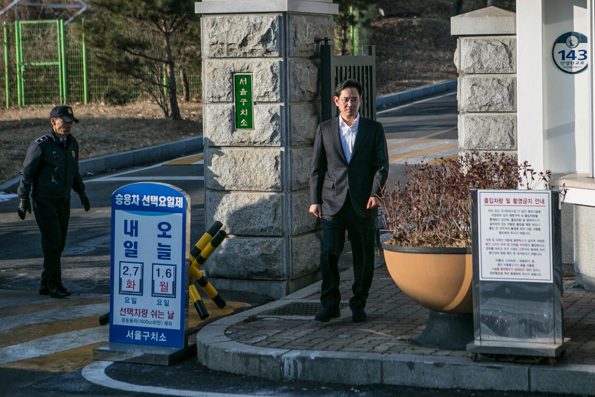 Vice Presidente da Samsung, Jay Y. Lee, libertado da prisão