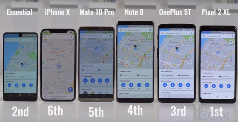 google maps teste smartphone