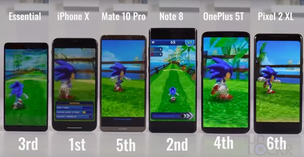 sonic dash teste smartphone