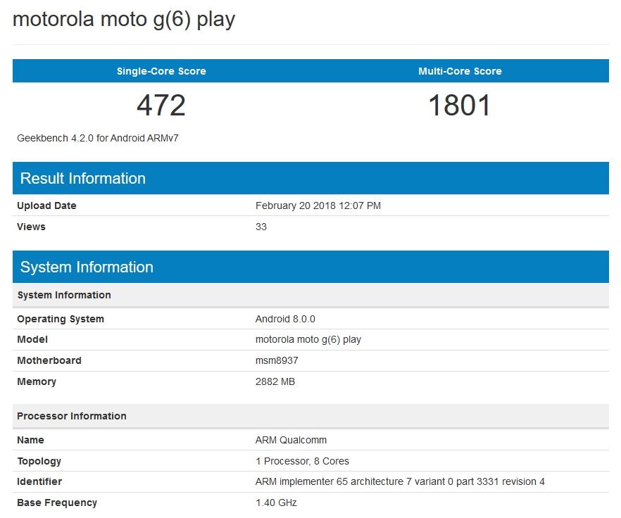 Moto G6 Play terá Snapdragon 430 e 3 GB de RAM — Confirmado
