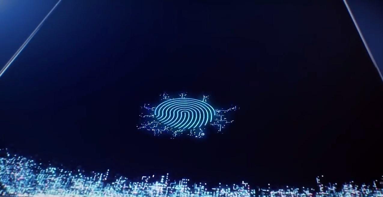 Um sensor de digitais.