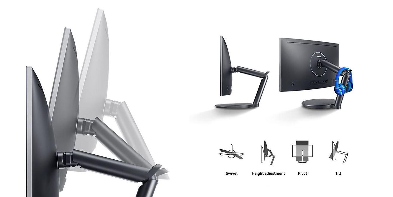 Ajuste monitor Gamer Samsung