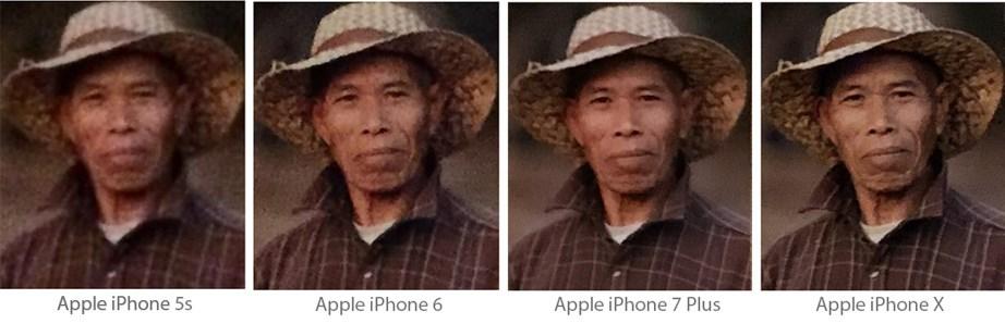 Uma série de fotos iguais.