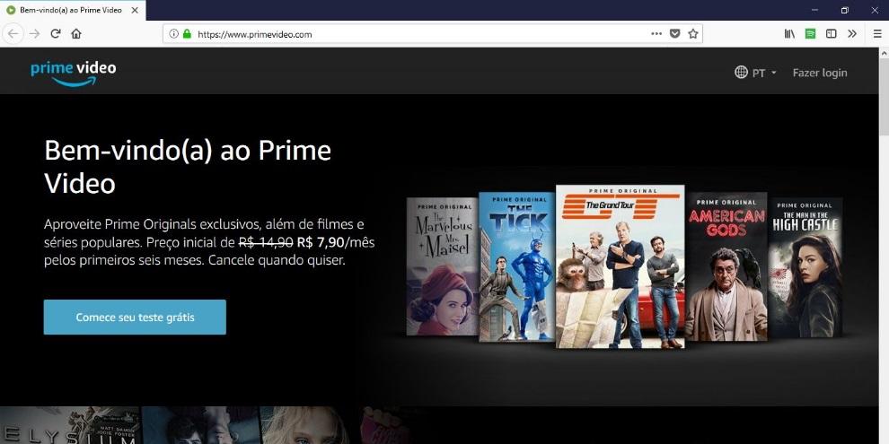 Aprenda a criar uma conta na Amazon Prime Video com 7 dias grátis ... 8d5d635db19
